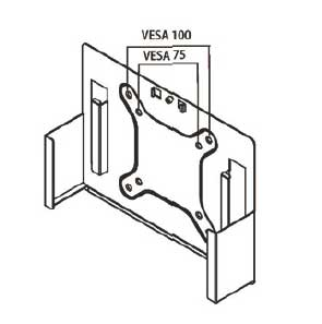 AS-BOX 2072 Wand- u. VESA Halterung